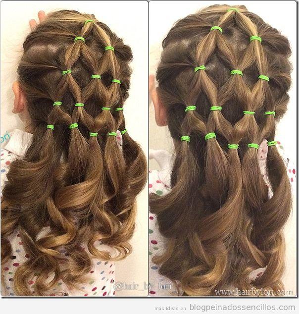 Peinados forma árbol de Navidad para niñas 5