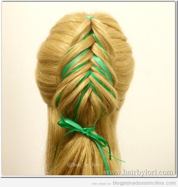Peinados forma árbol de Navidad para niñas 4
