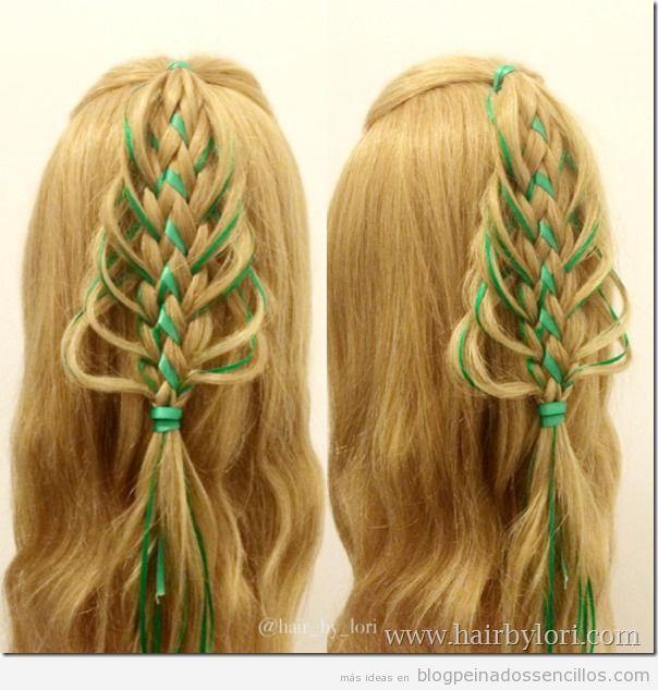 Peinados forma árbol de Navidad para niñas 3
