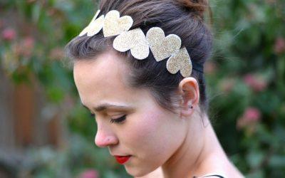 Diademas de corazones DIY para un peinado bonito y sencillo en San Valentín
