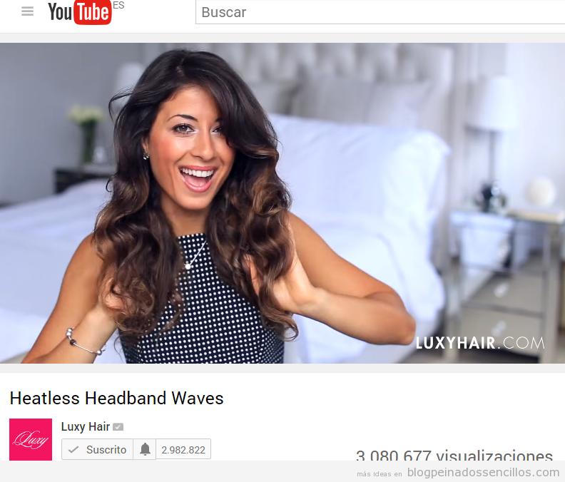 Canal youtube belleza LUXY HAIR