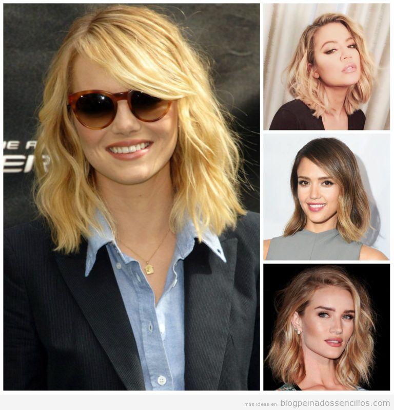 media melena ondulada peinados media melena y pelo corto para mujer tendencia en primavera verano