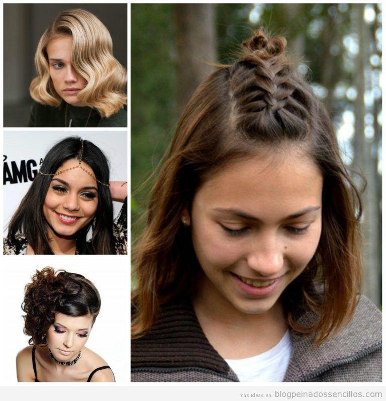 peinados media melena y pelo corto para mujer tendencia en primavera verano
