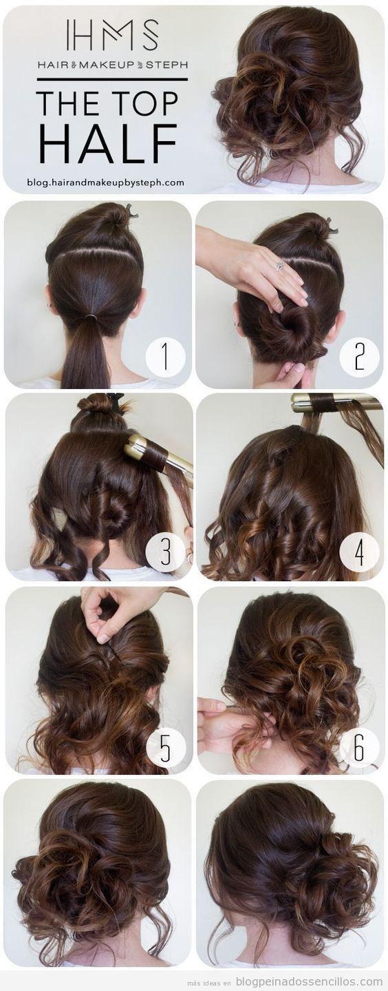 Peinados sencillos para novias a invitadas de boda, recogido boho
