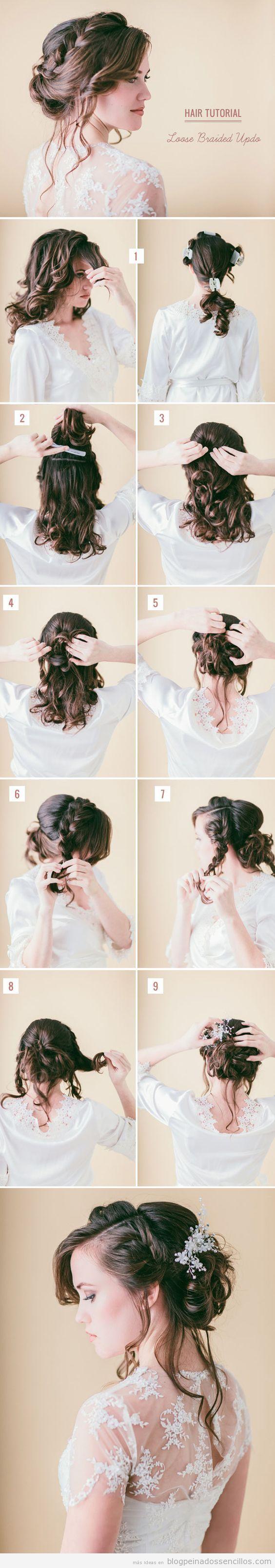 Peinados sencillos para novias a invitadas de boda, recogido boho 4