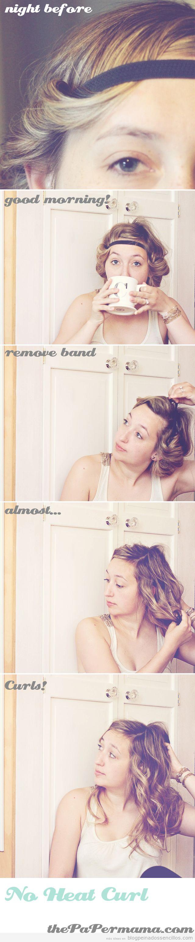 Tutorial truco tutorial ondular y rizar pelo con diadema