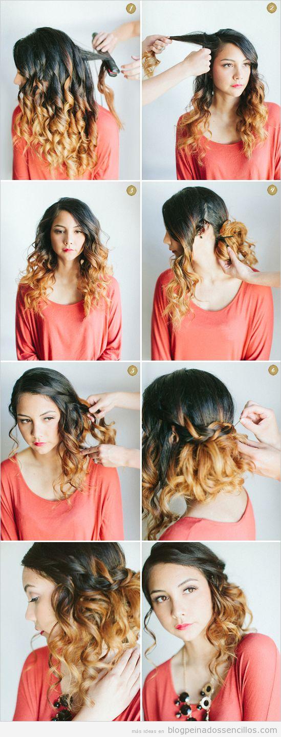 Tutorial peinado sencillo y elegante para pelo rizado