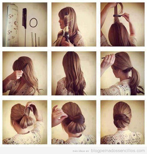 Peinado sencillo para fiestas tutorial