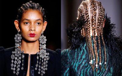 Tendencia de Peinados Otoño 2017: Trenzas africanas que se vieron en las pasarelas