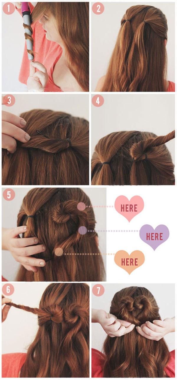 Tutorial peinado sencillo san valentin paso a paso 3