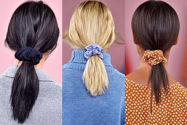 Tendencias de Peinados en Primavera 2018, coleteros de colores