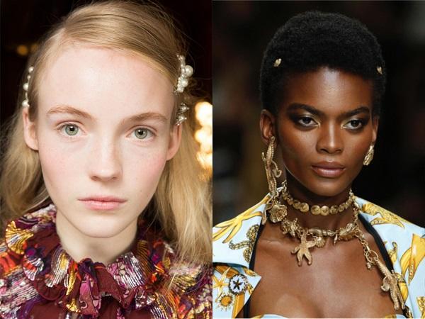 Tendencias de Peinados en Primavera 2018, doble pasador