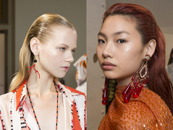 Tendencias de Peinados en Primavera 2018, pelo engominado hacia atrás